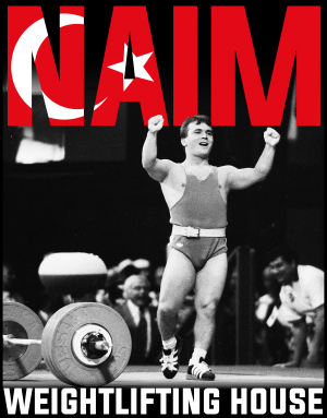 Naim Suleymanoglu poster from the 1996 Olympic Games