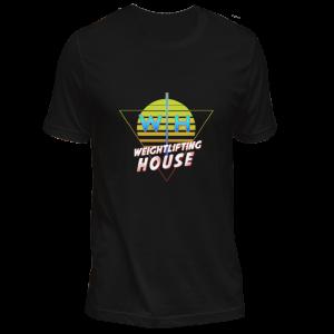 Retro 80s weightlifting t-shirt