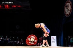 Courtney Batchelow with an American Record 86 kg snatch at the 2016 Olympic Trials
