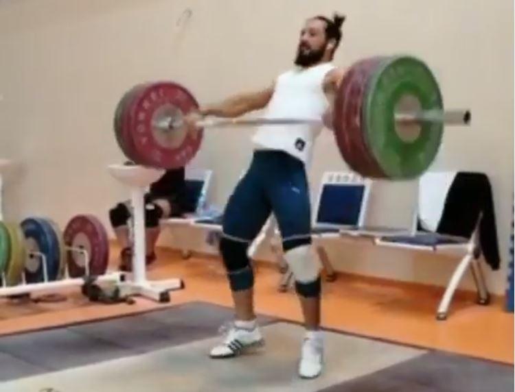 Daniyar Ismayilov 140kg snatch plus 3 hang snatches