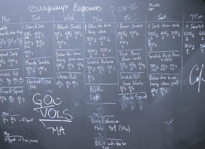 Blackboard from Vladimir Safonov seminar