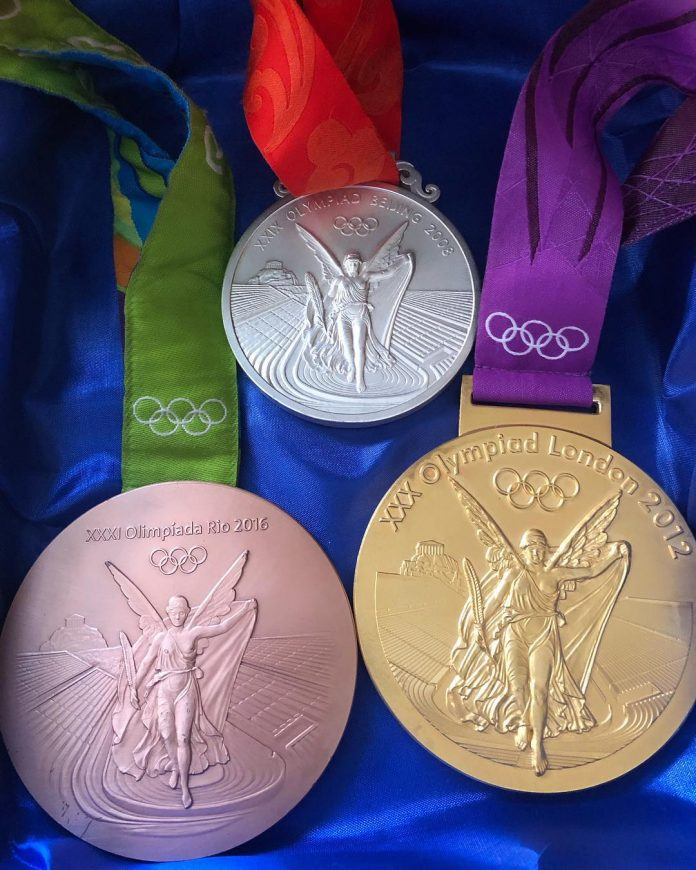 Lydia Valentin Olympic medals