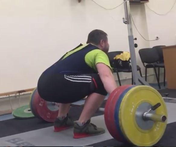 Belarus weightlifter Andrei Aryamnov 190kg snatch