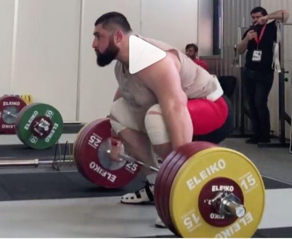 Olympic Champion Lasha Talakhadze 210 kg snatch