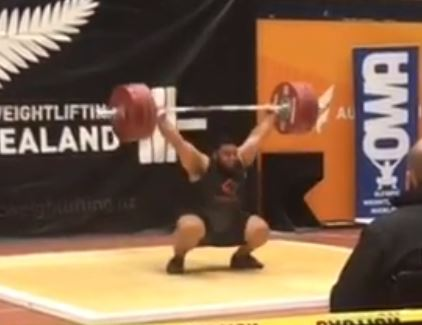 Weightlifter David Liti snatches 180 kg and clean and jerks 230 kg for all new personal records
