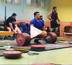 Ali Davoudi clean and jerks unnoficial jr world record of 240 kg
