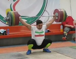 Iranian weightlifter Bahramzadeh Mohsen exceeds the world record snatch