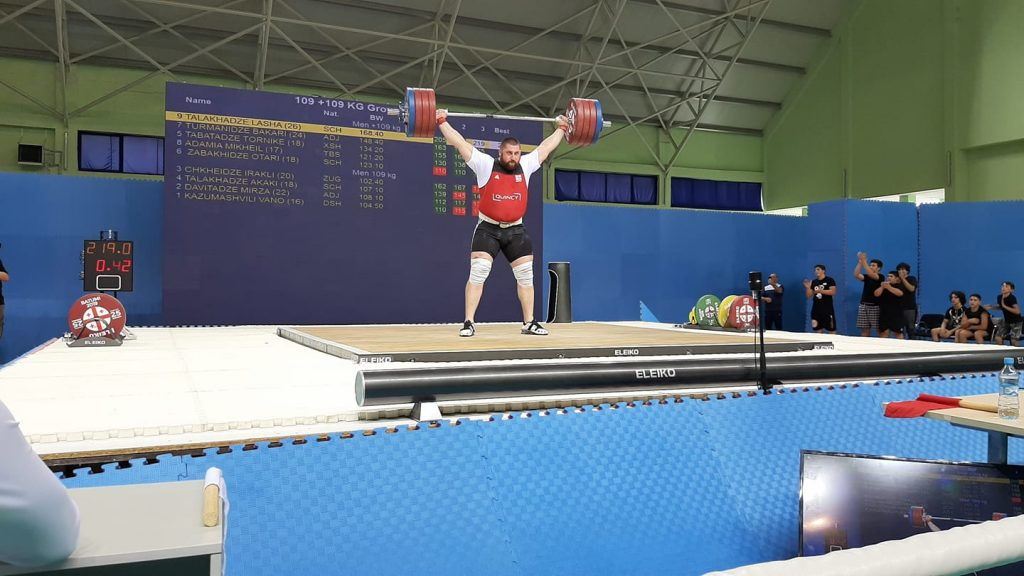 Lasha Talakhadze snatches 219 kg at the 2019 Georgian Nationals