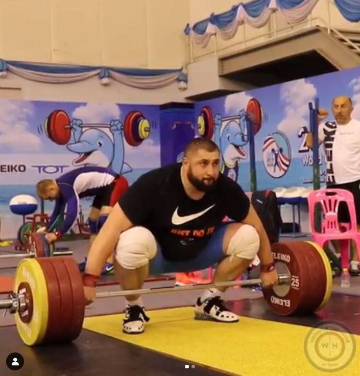 Lasha Talakhadze heaviest training hall total ever