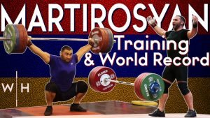 Simon Martirosyan heavy training, max snatch, world records, at the 2019 World Championships