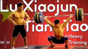 Lu Xiaojun and Tian Tao Chinese Training Session at the 2019 World Championships