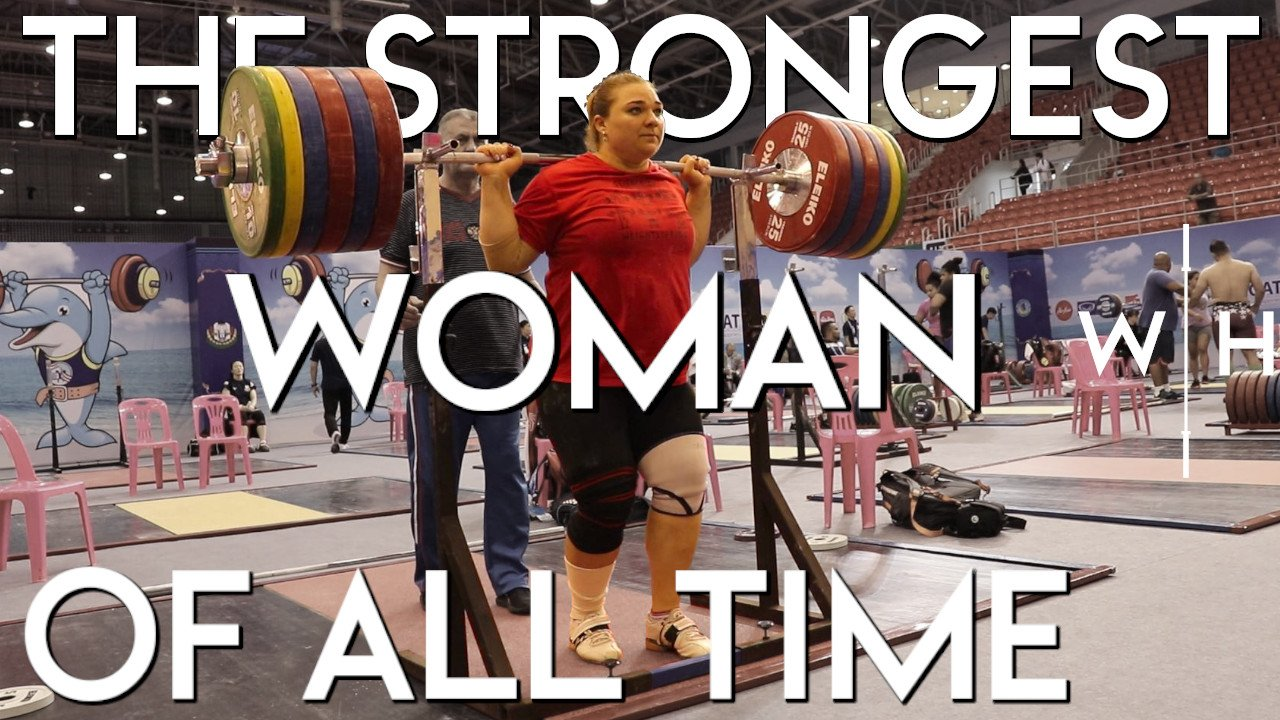 The strongest woman ever, Tatiana Kashirina, snatches 140kg, clean and jerks 170kg, and back squats 255kg for a double