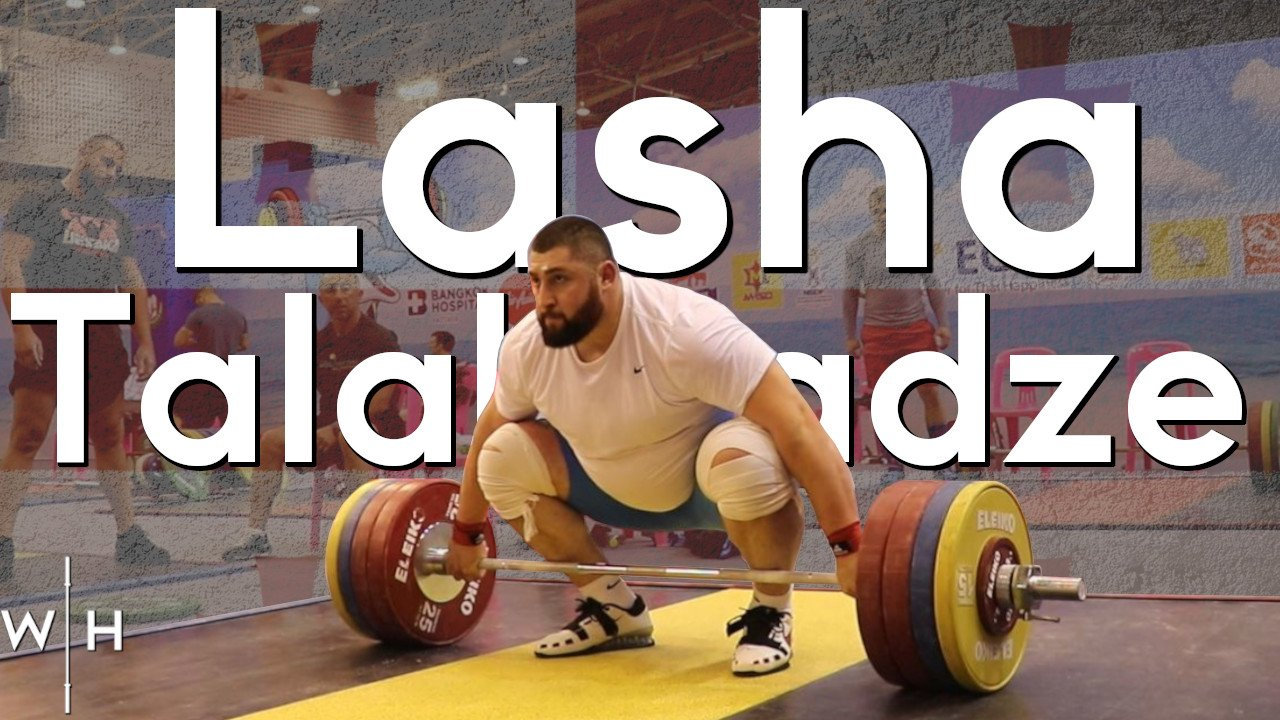 Lasha Talakhadze snatches 200kg, clean and jerks 230kg, and back squats 285kg