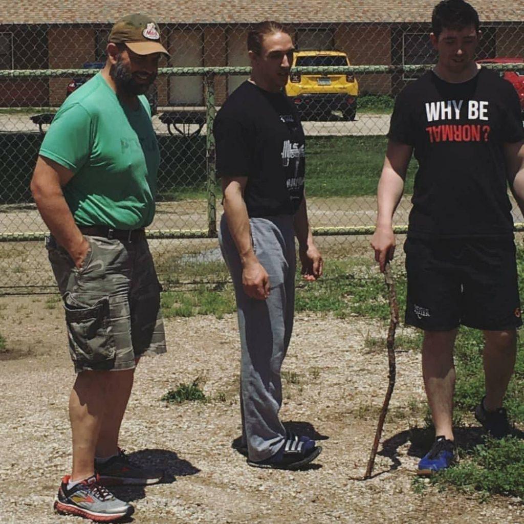 Glenn Pendlay with Seb Ostrowicz and Joshua Gibson