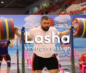 Lasha Talakhadze Muscle Snatches and Back Squats at the 2019 World Championships