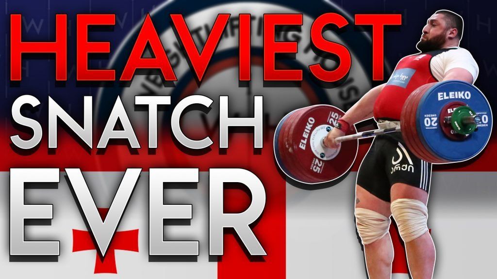 Lasha Talakhadze hits the heaviest snatch of all time at 222kg